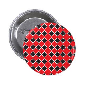 Rockabilly red pattern diamond 6 cm round badge