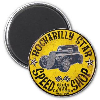 Rockabilly ride magnet