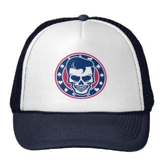 Rockabilly Skull and Aces Cap