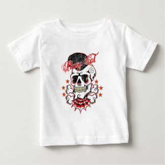 Rockabilly Skull Baby T-Shirt