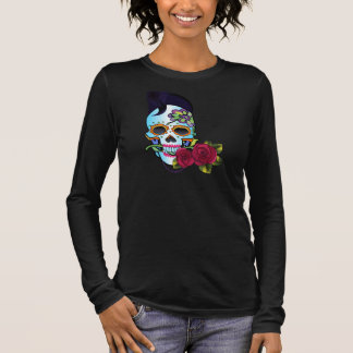Rockabilly Skull Long Sleeve T-Shirt