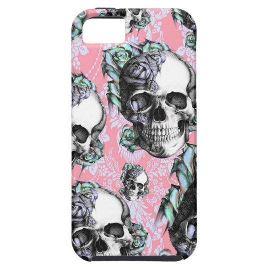 Rockabilly Skulls in Spring. Case For The iPhone 5