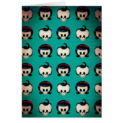 Rockabilly Skulls Pattern Cards