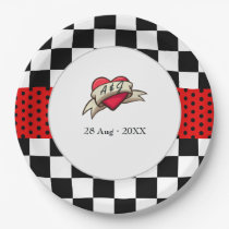 Rockabilly Wedding Paper Plate