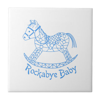 Rockabye Baby Small Square Tile