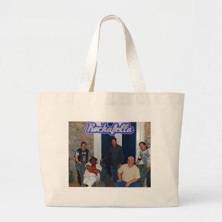 Rockafella Band pic 2, Jumbo Tote Canvas Bags