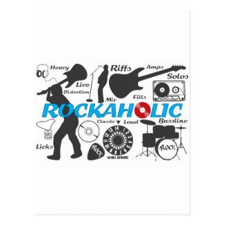 Rockaholic Postcard