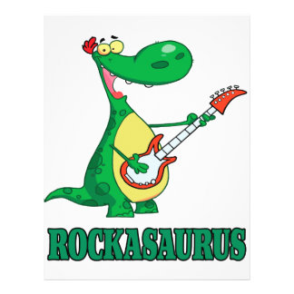 rockasaurus rock n roll dino dinosaur.ai personalized flyer
