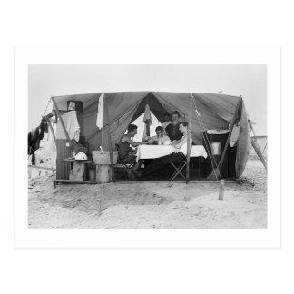 Rockaway Beach Card Game, 1910 Postcard