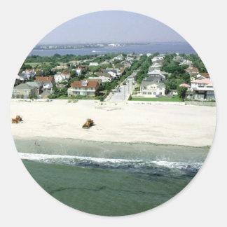 Rockaway Beach Round Sticker