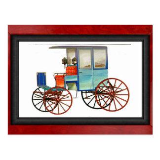 Rockaway cart postcard