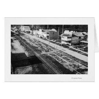 Rockaway, Oregon Beach and Main Street Photograp Greeting Card