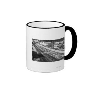 Rockaway, Oregon Beach and Main Street Photograp Coffee Mugs