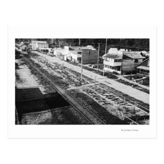 Rockaway, Oregon Beach and Main Street Photograp Postcard