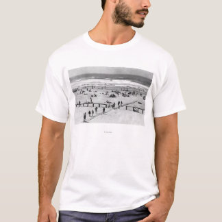 Rockaway, Oregon Beach Scene and Swimmers T-Shirt