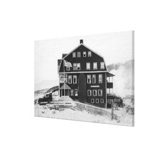 Rockaway, Oregon Lake Lytle Hotel Photograph Canvas Print