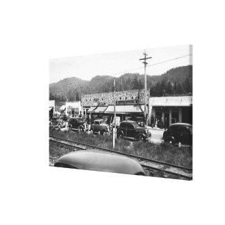 Rockaway, Oregon Main Business Section Canvas Print