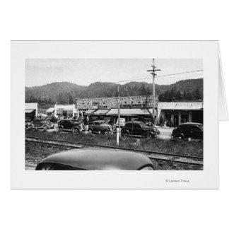 Rockaway, Oregon Main Business Section Greeting Card