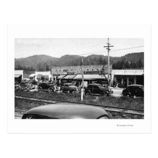 Rockaway, Oregon Main Business Section Postcard