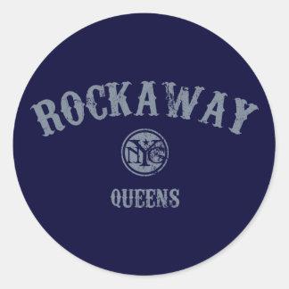 Rockaway Round Sticker