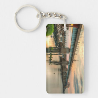 Rockaway Train Bridge Double-Sided Rectangular Acrylic Key Ring
