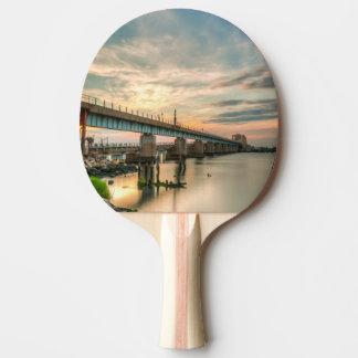 Rockaway Train Bridge Ping Pong Paddle