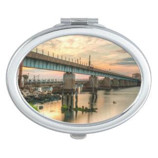 Rockaway Train Bridge Vanity Mirror