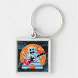 Rockbot Silver-Colored Square Key Ring