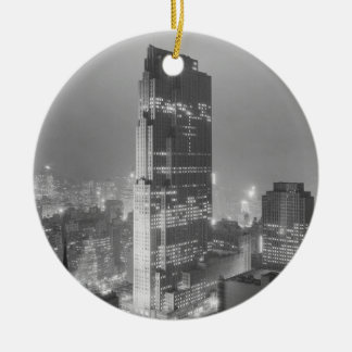 Rockefeller Center and RCA Building New York City Christmas Ornament