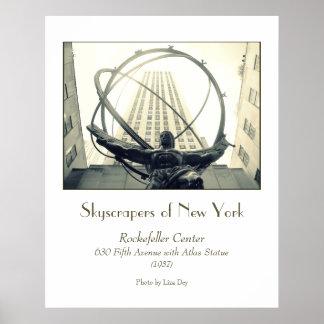 Rockefeller Center Atlas Poster