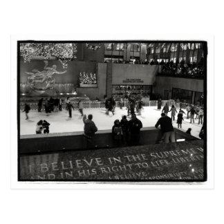 Rockefeller Center Ice Rick Postcard Post Card