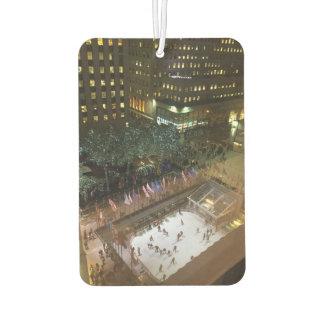 Rockefeller Center Ice Skating Christmas Tree NYC Car Air Freshener