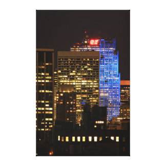 Rockefeller Center lit up blue for Autism 2012 Gallery Wrapped Canvas