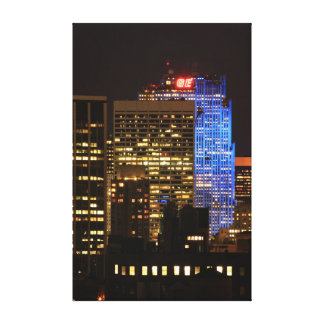 Rockefeller Center lit up blue for Autism 2012 Gallery Wrap Canvas