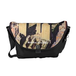 Rockefeller Center New York Artwork Messenger Bag