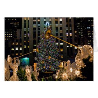 Rockefeller Center Tree and Angels Card