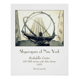 'Rockefeller Centre & Atlas' Poster
