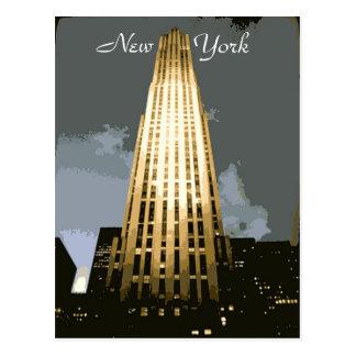Rockefeller Plaza Postcard