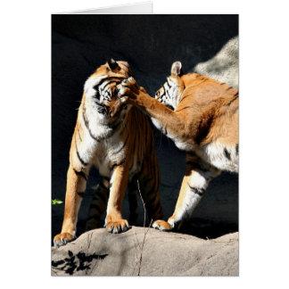 Rockem sockem tigers card