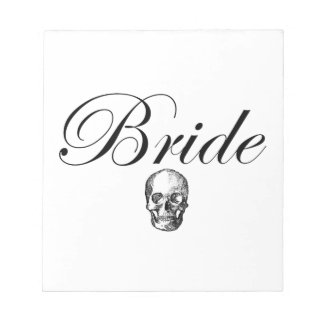 Rocker Bride Goth Skull Notepad