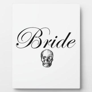 Rocker Bride Goth Skull Plaque