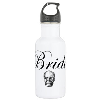 Rocker Bride Goth Skull Water Bottle