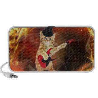 rocker cat in flames laptop speaker