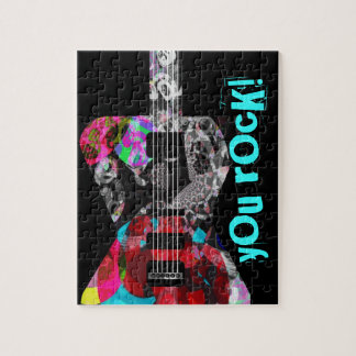 'Rocker Collection' Guitar Puzzle with Cool Tin!