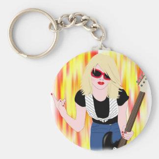 Rocker Girl Keychain