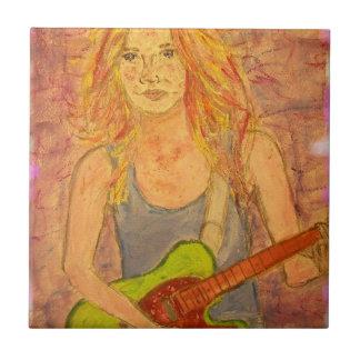 Rocker Girl Tile