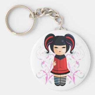 Rocker Kokeshi Keychain