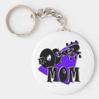 Rocker Mom! Basic Round Button Key Ring