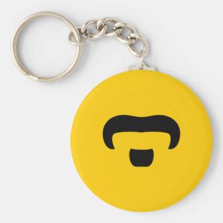 Rocker Mustache Keychain