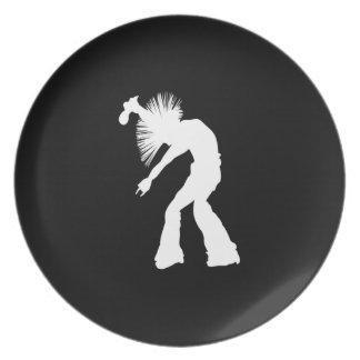 Rocker Silhouette Dinner Plate